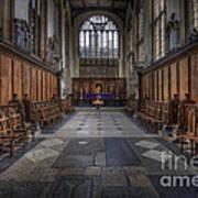 St Mary The Virgin Church - Choir And Altar Art Print