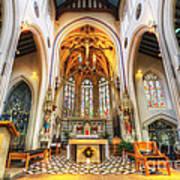 St Mary's Catholic Church - The Altar Art Print