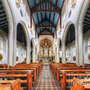 St Mary's Catholic Church - The Nave Art Print