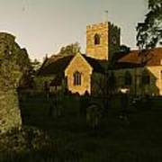 St Marys Church And Ancient Memorial Art Print
