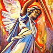 St. Michael Print by Sheila Diemert