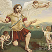 St. Michael The Archangel Art Print by Shelley Irish