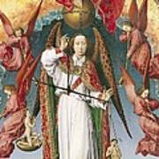 St. Michael Weighing The Souls, From The Last Judgement, C.1445-50 Oil On Panel Detail Of 170072 Art Print