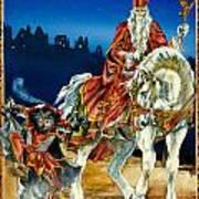 St Nicholas And Dark Peter Art Print by Lynette Yencho