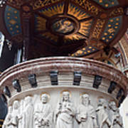 St Nicholas Church Pulpit In Amsterdam Art Print