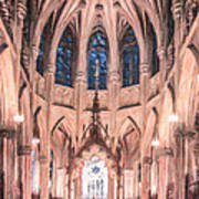 St Patricks Cathedral New York Usa Art Print