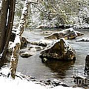 St Patricks Day Cranberry River Art Print