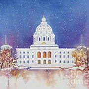 St. Paul Capitol Winter Art Print