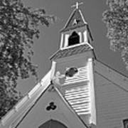 St. Paul's Church Port Townsend In B W Art Print