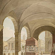St. Pauls, Covent Garden C.1765-75 Graphite And Wc On Paper Art Print