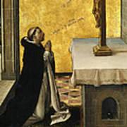 St. Peter Martyr In Prayer Art Print