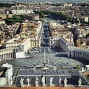 St Peter's Square Art Print by Joan Carroll