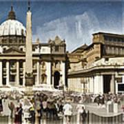 St Peters Square - Vatican Art Print by Jon Berghoff
