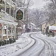 St Peters Village Snow 3 Art Print
