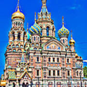 St Petersburg Church Art Print