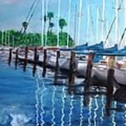 St. Petersburg Marina Art Print