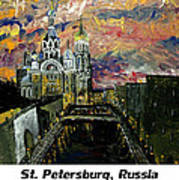 St  Petersburg Russia  Art Print