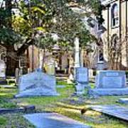 St. Philips Church Cemetery Charleston Sc Art Print