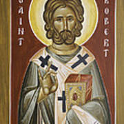 St Robert Art Print by Julia Bridget Hayes