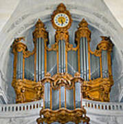 St Roch Organ In Paris Art Print