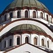 St Sava Temple Art Print