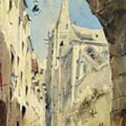 St. Severin Paris Print by James Holland
