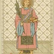 St Stephen Art Print by English School