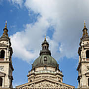 St. Stephen's Basilica Dome And Bell Towers Art Print