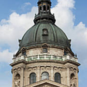 St. Stephen's Basilica Dome In Budapest Art Print