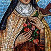 St. Theresa Mosaic Art Print