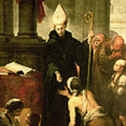 St. Thomas Of Villanueva Distributing Alms, 1678 Oil On Canvas Art Print