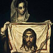 St Veronica With The Holy Shroud Art Print