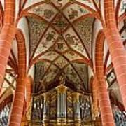 St Wendel Basilica Organ Art Print
