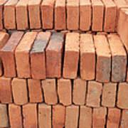 Stacked Adobe Bricks Art Print