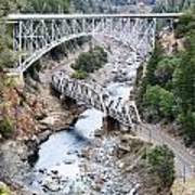 Stacked Bridges Art Print