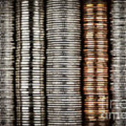 Stacked Coins Art Print