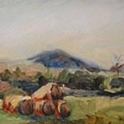 Stacked Hay Bales Art Print