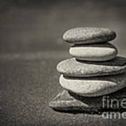 Stacked Pebbles On Beach Art Print by Elena Elisseeva