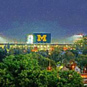 Stadium At Night Art Print