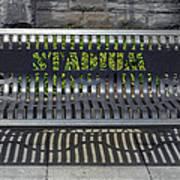 Stadium Bench Art Print