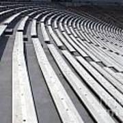 Stadium Bleachers Art Print