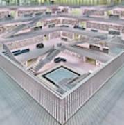 Stadtbibliothek Stuttgart Inner Space I Art Print