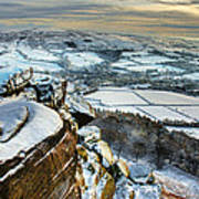 Staffordshire Winter Moorland Art Print