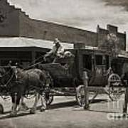 Stage Coming Through Tombstone Art Print