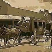 Stagecoach In Old West Arizona Art Print