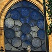 Stain Glass Church Window Art Print