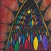 Stain Glass Window Drawing Art Print by Cim Paddock