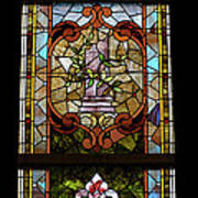 Stained Glass 3 Panel Vertical Composite 06 Art Print