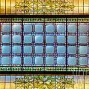 Stained Glass At Md State House Art Print