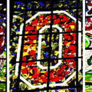 Stained Glass At The Horseshoe Art Print by David Bearden